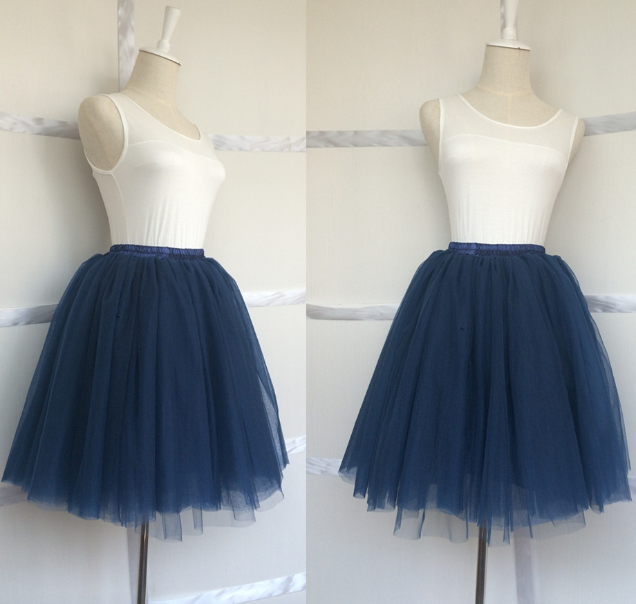 Aliexpress Buy Hot Sale Navy Blue Tulle Skirt 7 Layers Puffy Princess Womens Tutu Length 195