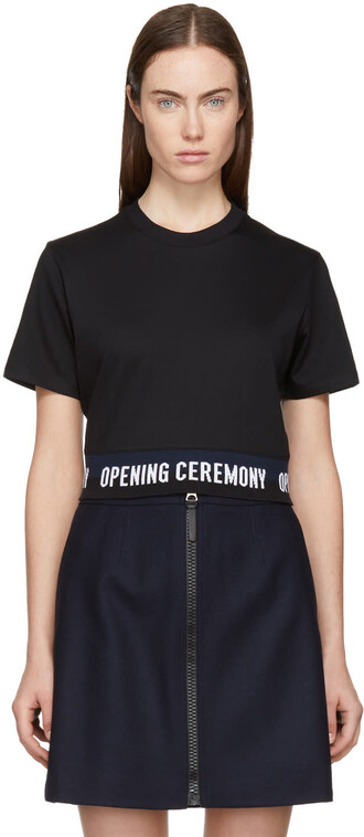 t-shirt shirt cropped black top