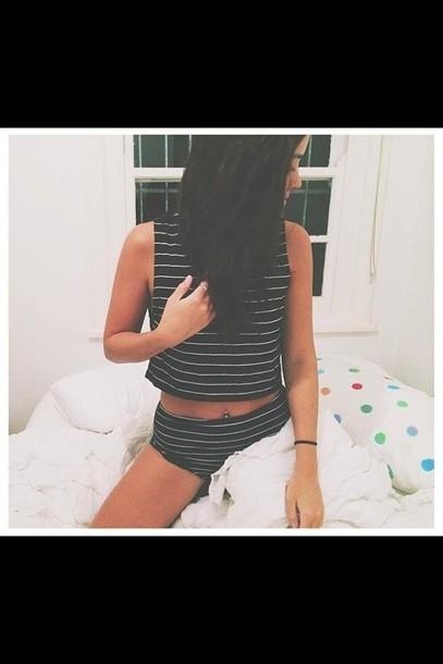 pajamas stripes pyjama shorts