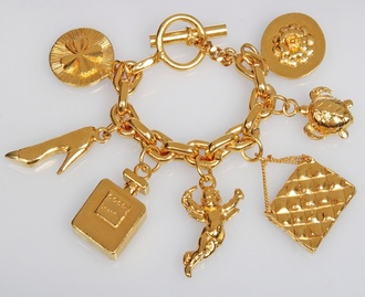 jewels charm bracelet chanel cute jewelry