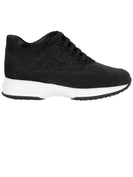 Hogan glitter sneakers black shoes