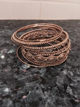 jewels rustic bracelets gold bangles gold topshop