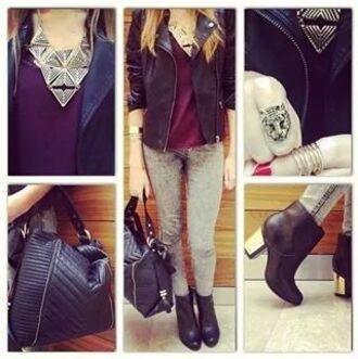 coat cuir noir