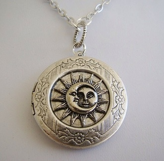 jewels sun moon moon and sun necklace vintge sun and moon necklace