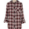 Plaid flannel button down top with hoodie – betsy boo's boutique