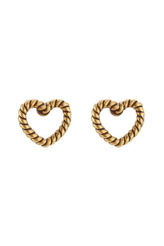 heart earrings stud earrings gold jewels