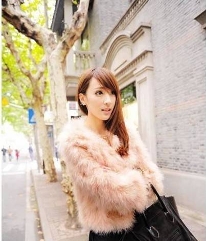 Super Luxurious fashion Faux Ostrich Fur women new 2013 high quality Soft pink winter autumn long sleeve Coat-inFur & Faux Fur from Apparel & Accessories on Aliexpress.com