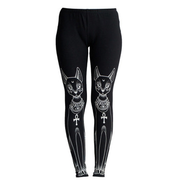 leggings cats meow egyptian cats egyptian stype egyptian cat cross black leggings