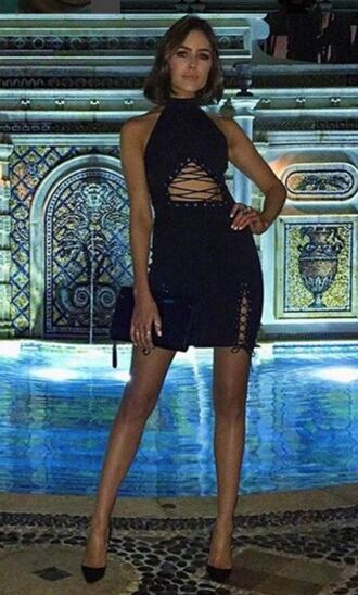 dress lace up dress lace up olivia culpo mini dress black dress pumps