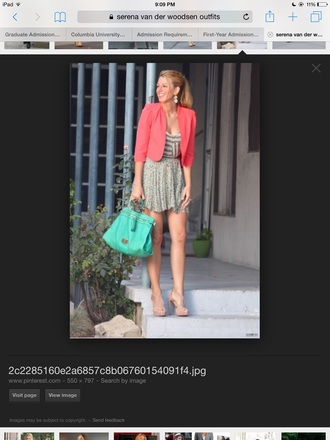 bag serena van der woodsen gossip girl blake lively fashion