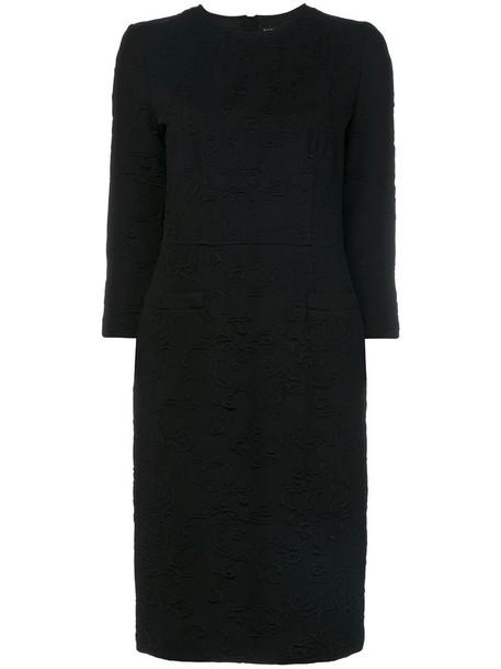 dress women spandex black paisley