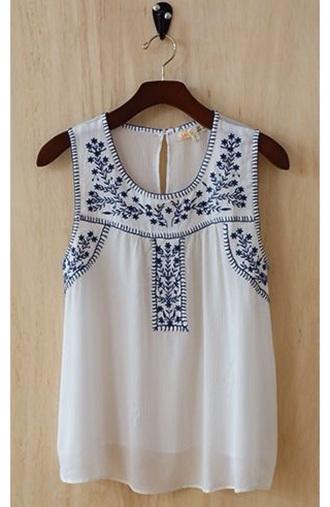 blouse white tanktop.