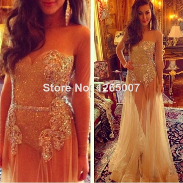 Aliexpress.com : buy stunning golden sparkly sweetheart golden sequins see through sexy tulle summer long dress glitter prom special occasion dress from reliable dress up casual dress suppliers on sfbridal