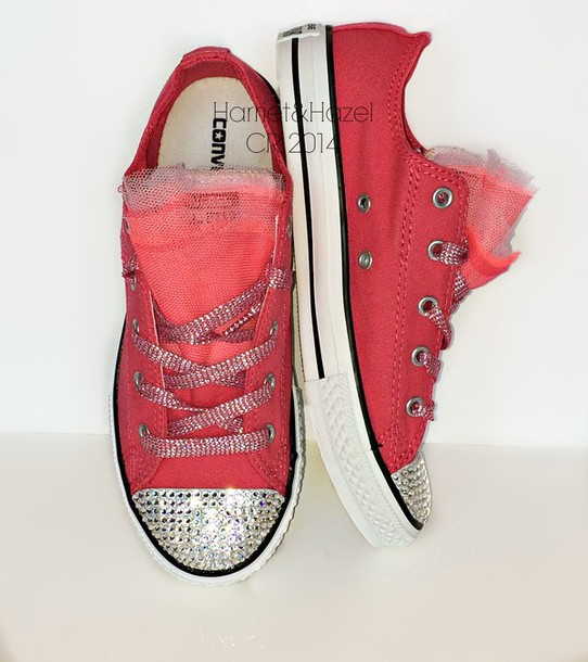 01a6e314dcf9 girls chucks conver custom conv bling converse bling pink converse  swarovski chucks low chuck taylor all