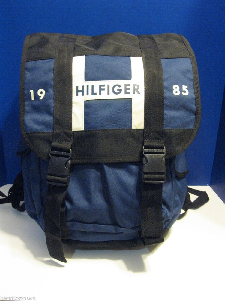 "Tommy Hilfiger Navy Blue 17"" Laptop Bag Raider Rucksack Back Pack Luggage 
