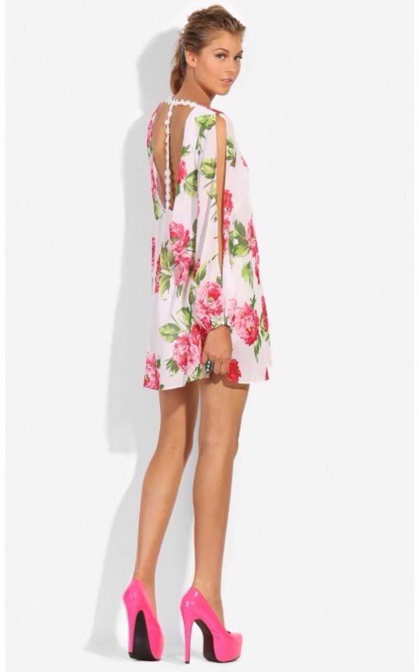 dress floral dress coat