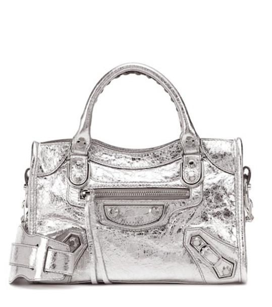 mini classic bag shoulder bag leather silver