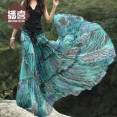 skirt,blue,bohemian,tribal pattern