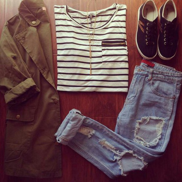 jacket jeans t-shirt shoes