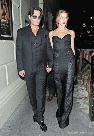 black dress night gown lace dress black lace long dress amber heard mens suit