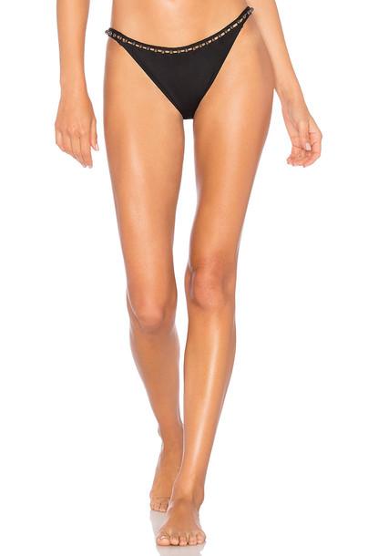 Jonathan Simkhai bikini studded pearl black swimwear