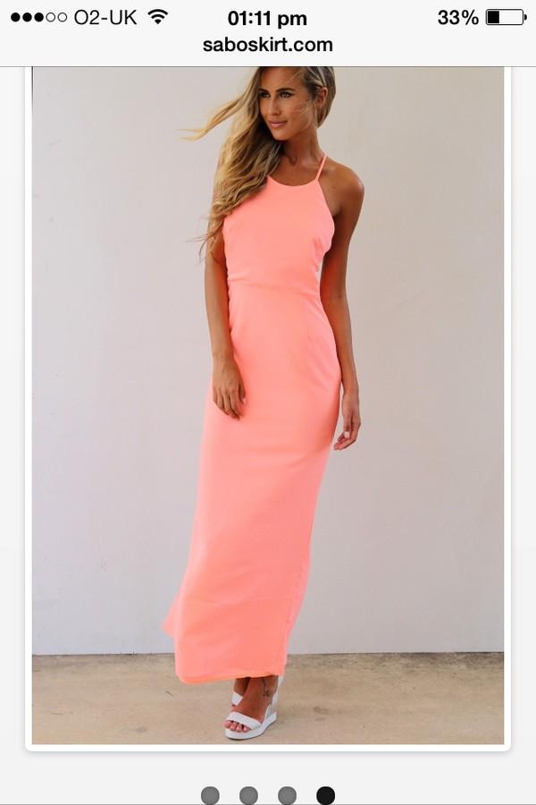 dress saboskirt luminous maxi dress