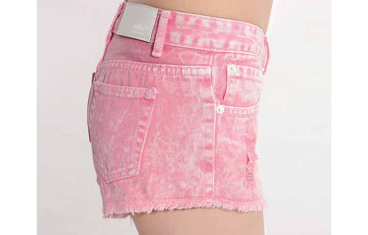 Gradient Effect Denim Short in Pink [FJCE0131] - PersunMall.com