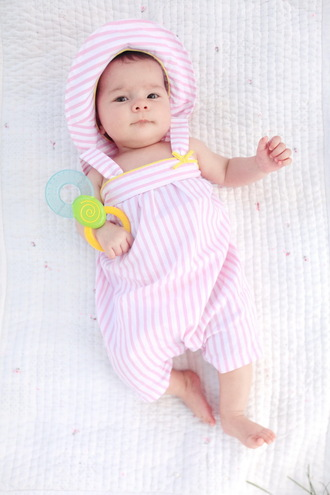 the cherry blossom girl blogger hat baby clothing stripes baby pink pink hat