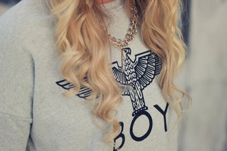 sweater boy grey sweater gold chains