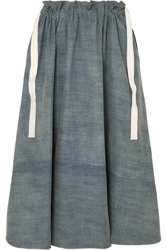 skirt midi skirt denim midi