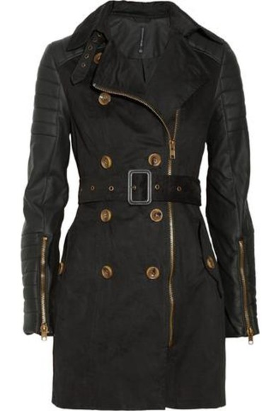trench coat leather jacket