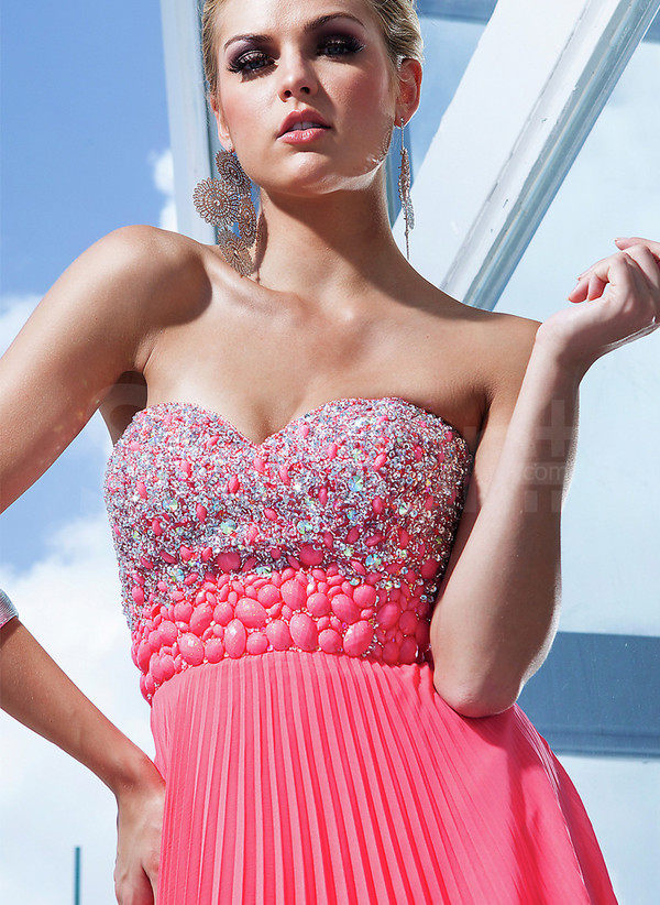 dress watermelon dresss for prom /formal evening and wedding party sleeveless prom dress