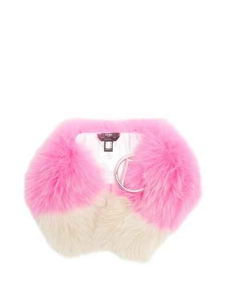 Fendi fur scarf fur scarf pink