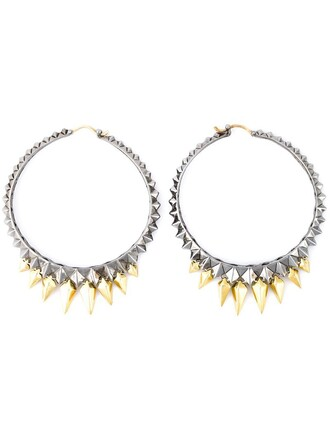 studded earrings hoop earrings metallic jewels