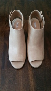 shoes,beige shoes,cream high heels,mossimo supply co.