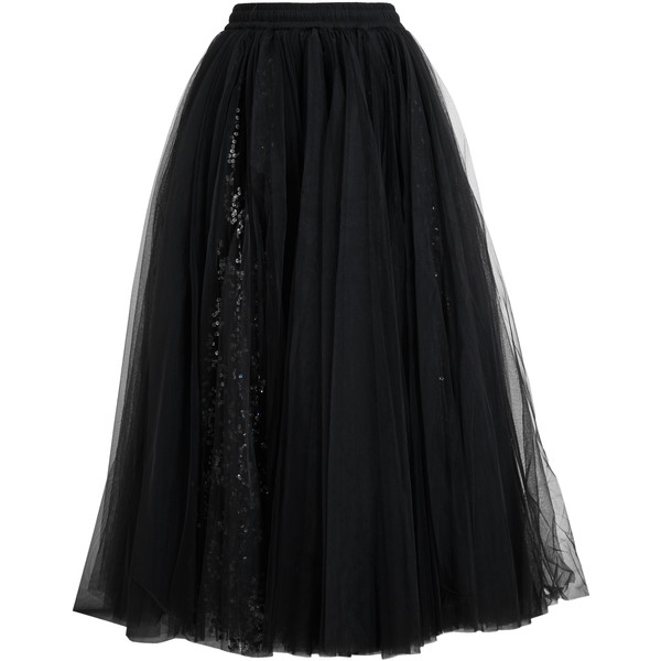 ASHISH Sequinned Black Tutu Skirt
