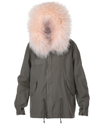parka cotton pink coat