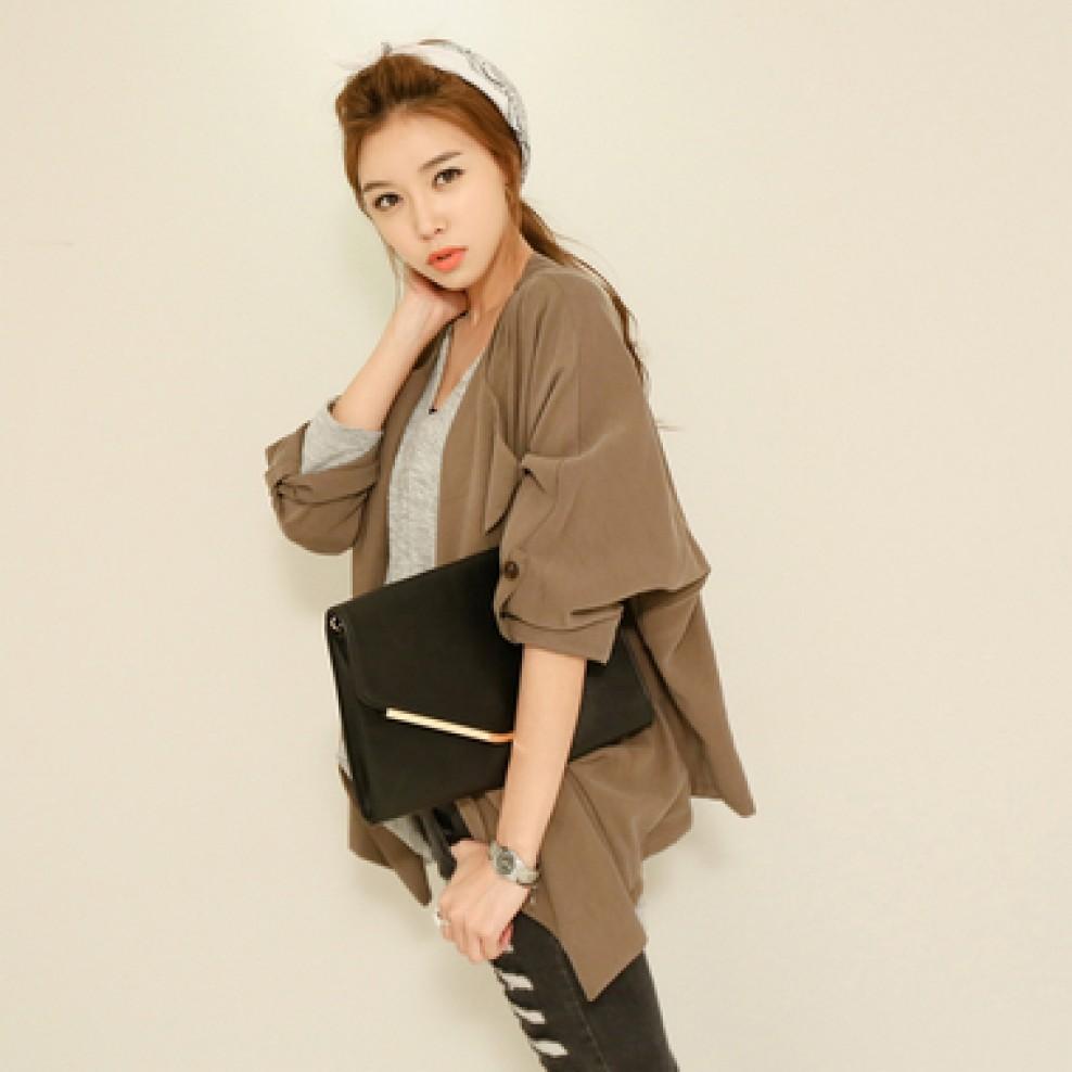 Natural shawl Jacket