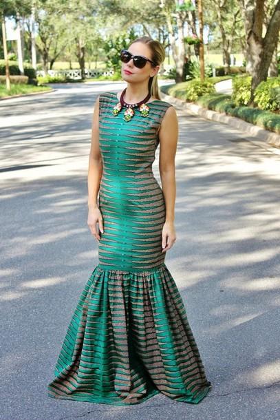 b soup dress sunglasses jewels mermaid prom dress green prom dress
