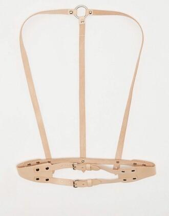 belt harness beige nude