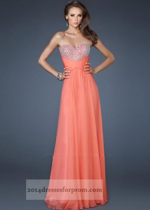La Femme 18304 Coral Long Sequins Prom Dresses 2014 [coral long prom dresses] - $150.00 : Cheap Sequin Prom Dresses2014,Online Tailored Prom Dresses Shop,Homecoming Dresses Cheap