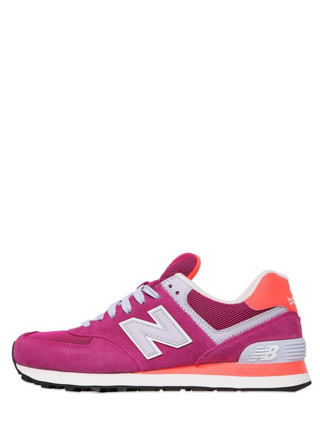 New Balance mesh sneakers suede pink shoes