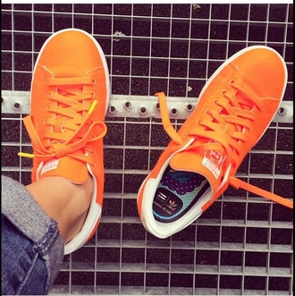shoes adidas neon neon shoes neon adidas orange adidas shoes orange shoes