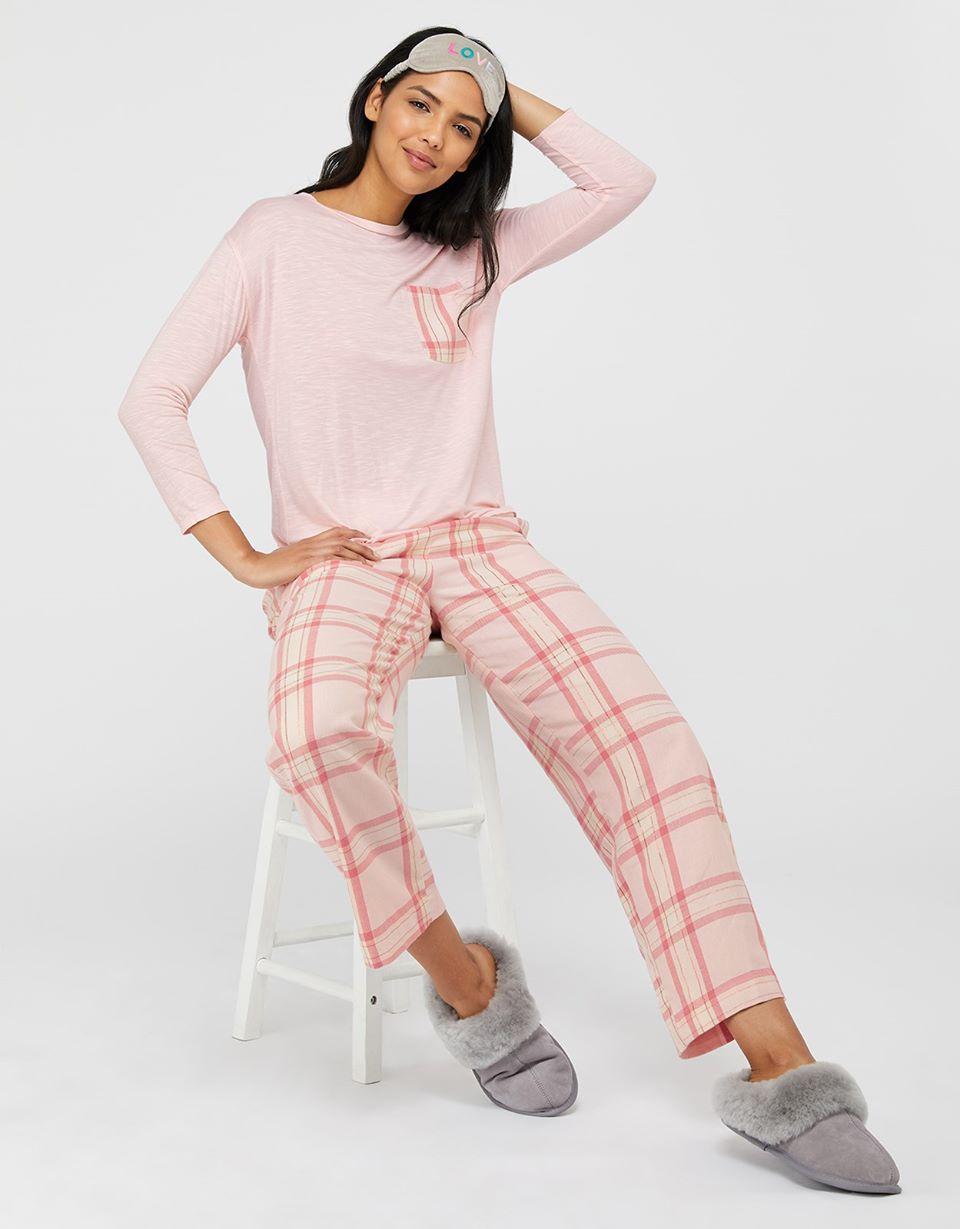 Hailey Check Cotton Pj Trousers