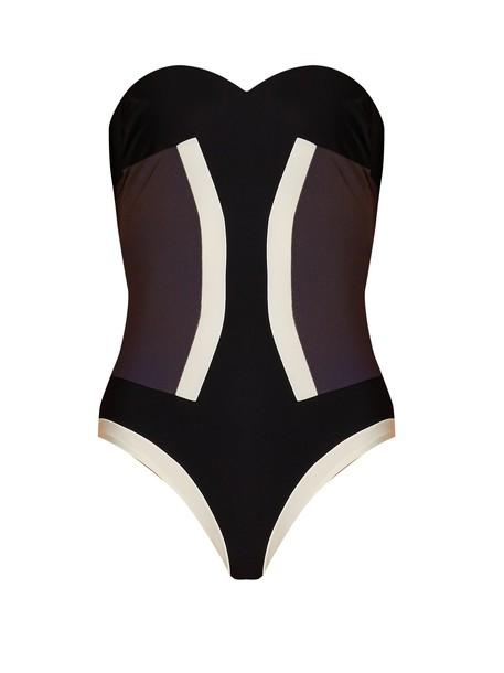 bandeau swimsuit bronze swimwear