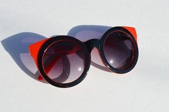 sunglasses red black round summer retro round sunglasses round sunglasses