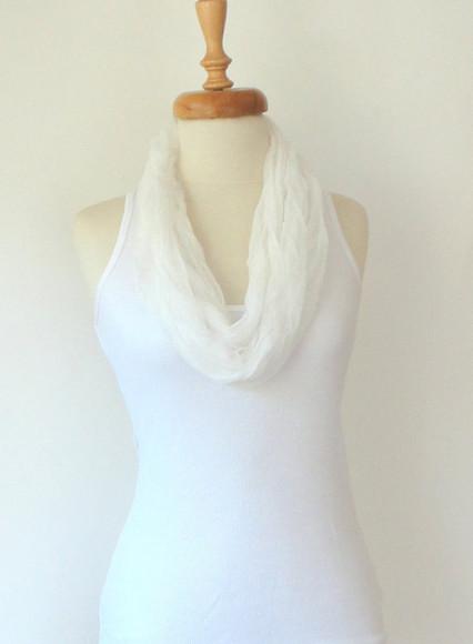 white scarf white scarf christmas