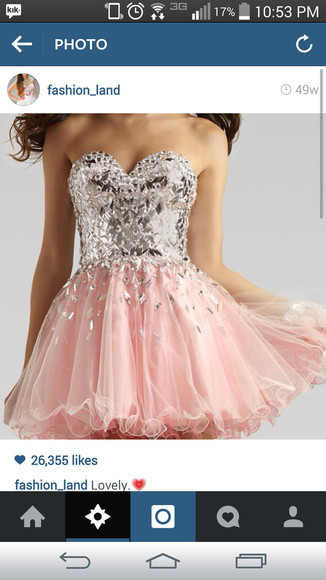 sweetheart neckline pink dress sparkly dress shortdress
