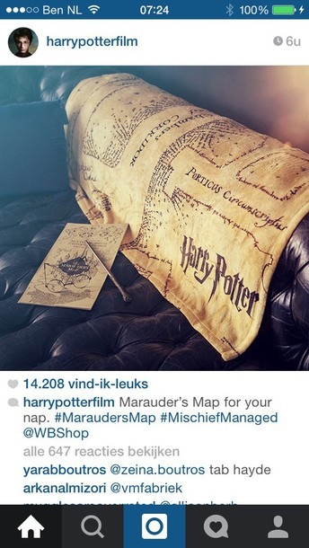 home accessory blanket harry potter