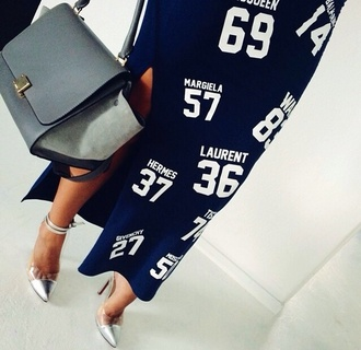 skirt celine celine bag celine trapeze navy dress laurent margiela hermes givenchy dress mc queen wang black white designers